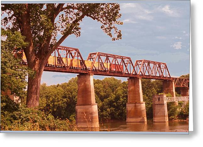 Tennessee River Greeting Cards - The Iron Bridge  Greeting Card by Jayme Pierce