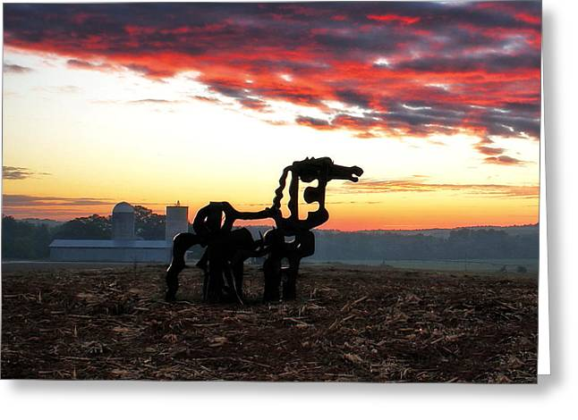 The Iron Horse And Friends  Greeting Card by Reid Callaway