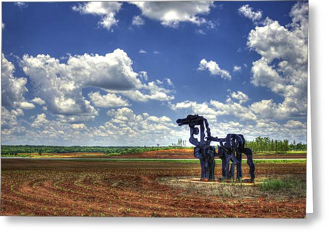 The Iron Horse Planted Corn  Greeting Card by Reid Callaway