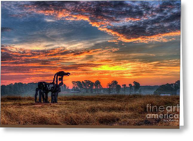 The Iron Horse Revisited Greeting Card by Reid Callaway