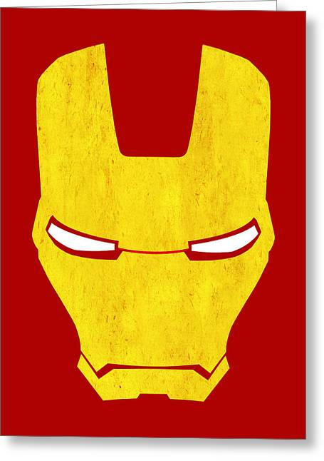 The Iron Man Greeting Card by Mark Rogan