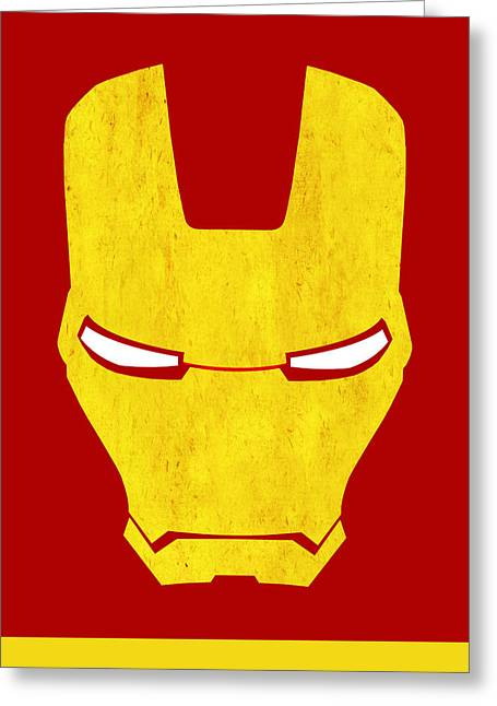 Tony Greeting Cards - The Iron Man Greeting Card by Mark Rogan