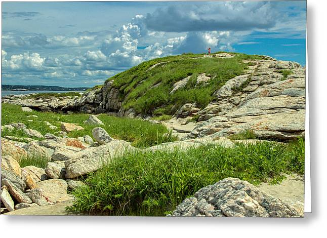 Maine Beach Greeting Cards - The Island Greeting Card by Laurie Breton