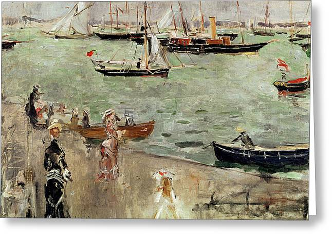 Berthe (1841-95) Greeting Cards - The Isle of Wight Greeting Card by Berthe Morisot