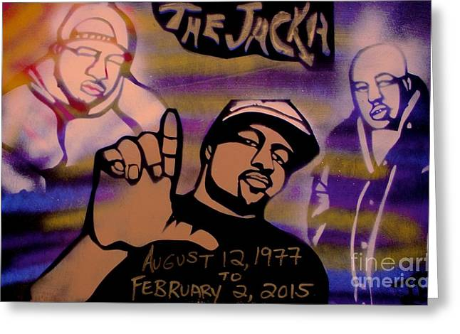 Free Speech Greeting Cards - The Jacka Greeting Card by Tony B Conscious