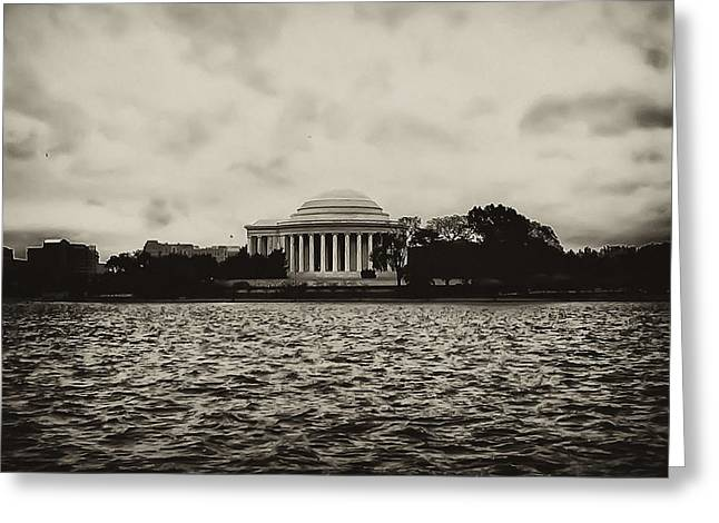 Tidal Photographs Greeting Cards - The Jefferson Memorial Greeting Card by Bill Cannon