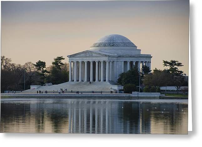 Bill Cannon Photography Greeting Cards - The Jefferson Memorial in April Greeting Card by Bill Cannon