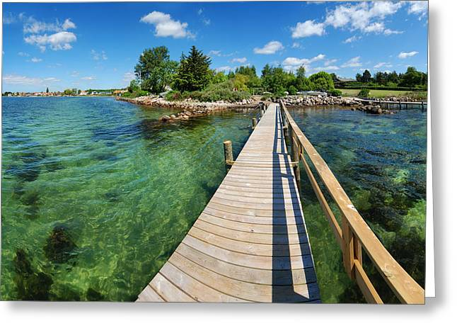 Scandanavia Greeting Cards - The Jetty Greeting Card by Robert Lacy