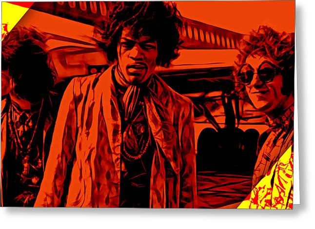 The Jimi Hendrix Experience Greeting Cards - The Jimi Hendrix Experience Collection Greeting Card by Marvin Blaine