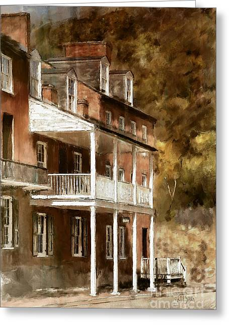 Harpers Ferry Digital Greeting Cards - The John Brown Museum Harpers Ferry Greeting Card by Lois Bryan