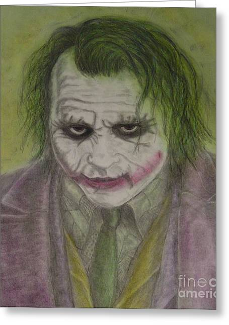 Batman Pastels Greeting Cards - The Joker Greeting Card by Ian Lennox
