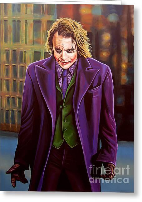 Heaths Greeting Cards - The Joker in Batman  Greeting Card by Paul Meijering