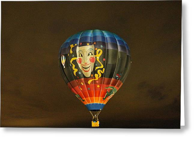 The Joker Lights Up Greeting Card by Jeff Swan