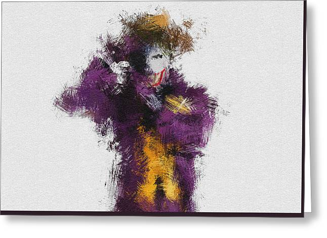 Heath Ledger Greeting Cards - The Joker Greeting Card by Miranda Sether