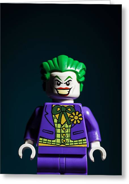 Lego Greeting Cards - The Joker Greeting Card by Samuel Whitton