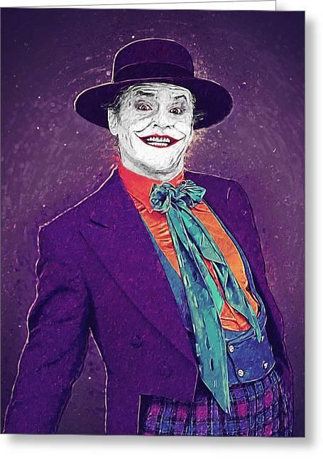 Killer Clown Greeting Cards - The Joker Greeting Card by Taylan Soyturk