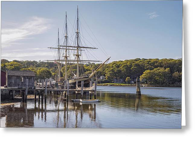 Tall Ships Greeting Cards - The Joseph Conrad Mystic Seaport Greeting Card by Marianne Campolongo