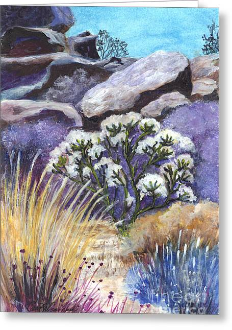 The Joshua Tree Greeting Card by Carol Wisniewski