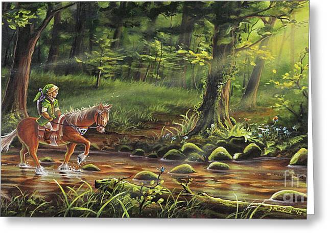 Linked Paintings Greeting Cards - The Journey Begins Greeting Card by Joe Mandrick