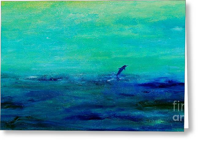Aquatic Greeting Cards - The Journey Greeting Card by Deb Arndt