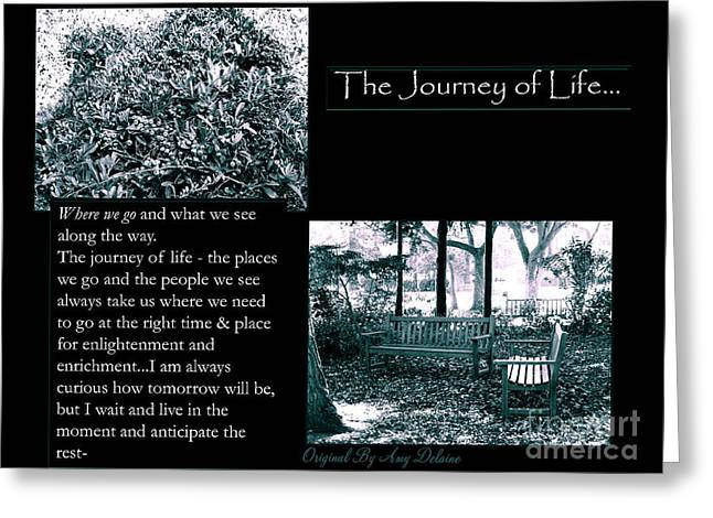 Empowerment Greeting Cards - The Journey of Life Greeting Card by Amy Delaine