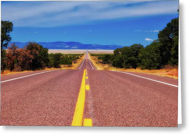 Scenic Drive Greeting Cards - The Journey Greeting Card by Rick Furmanek