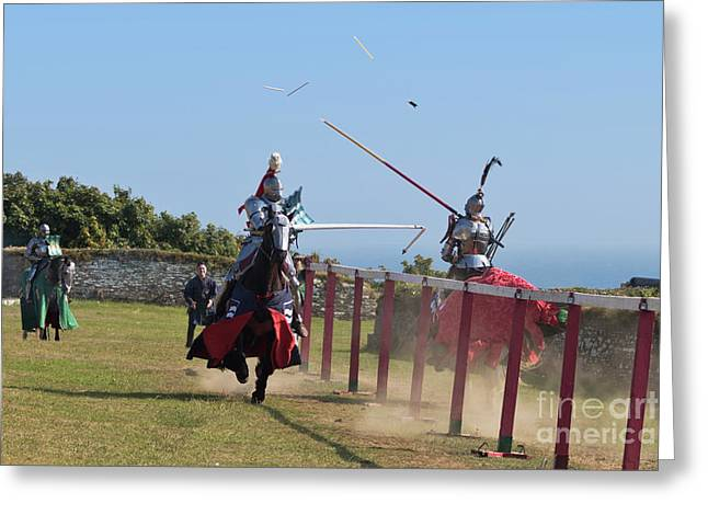 The Joust Greeting Card by Terri Waters