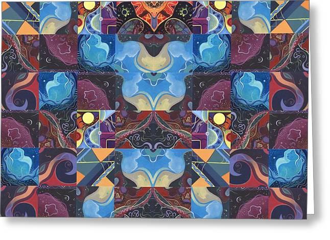 The Joy Of Design Mandala Series Puzzle 6 Arrangement 1 Greeting Card by Helena Tiainen