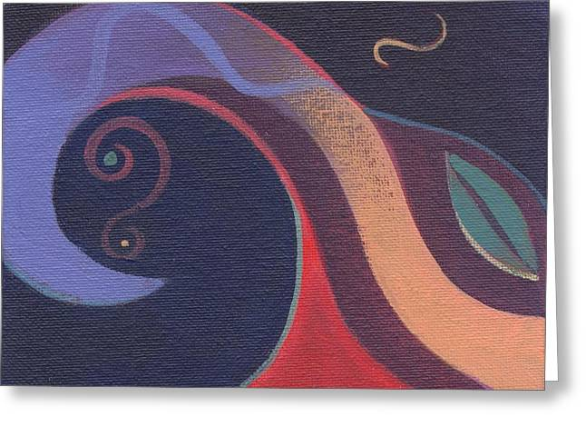 Abstract Forms Greeting Cards - The Joy of Design X X V I V Part 2 Greeting Card by Helena Tiainen