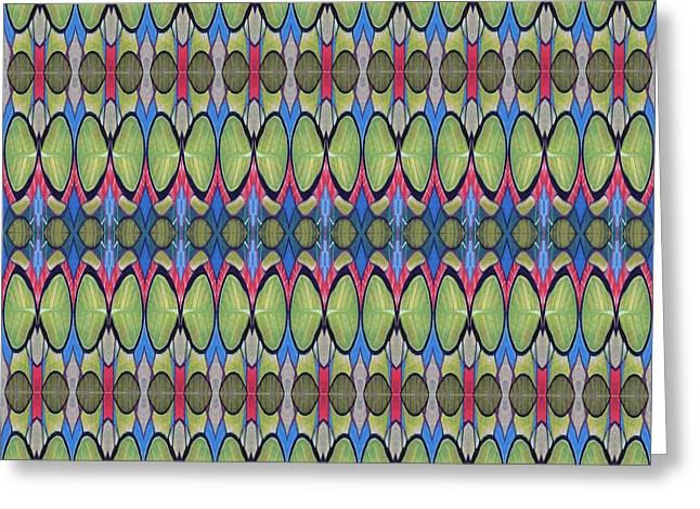 The Joy Of Design X X X I I I Arrangement 1 Tile 9x2 Greeting Card by Helena Tiainen