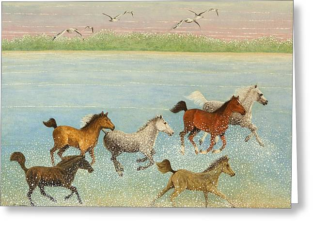 The Joy Of Freedom Greeting Card by Pat Scott