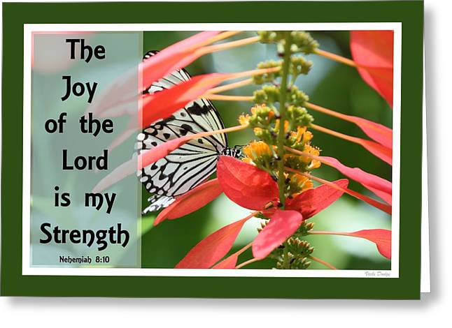 Kite Greeting Cards - The Joy of the Lord Greeting Card by Vicki Dodge