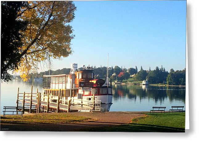 Skaneateles Greeting Cards - The Judge Skaneateles Lake Greeting Card by Jennifer  Carter