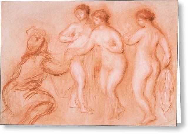 Renoir Drawings Greeting Cards - The Judgement of Paris Greeting Card by Treasury Classics  Art