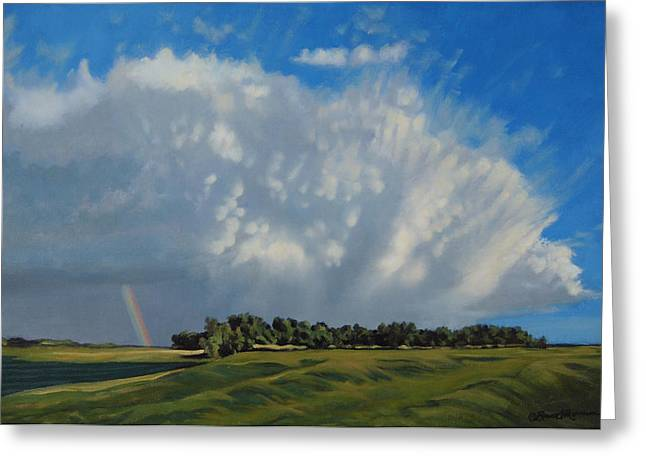 Summer Storm Paintings Greeting Cards - The June Rains Have Passed Greeting Card by Bruce Morrison