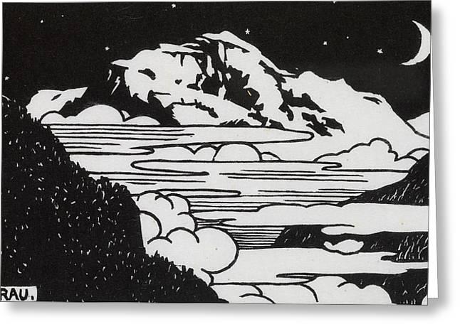 The Jungfrau Greeting Card by Felix Edouard Vallotton