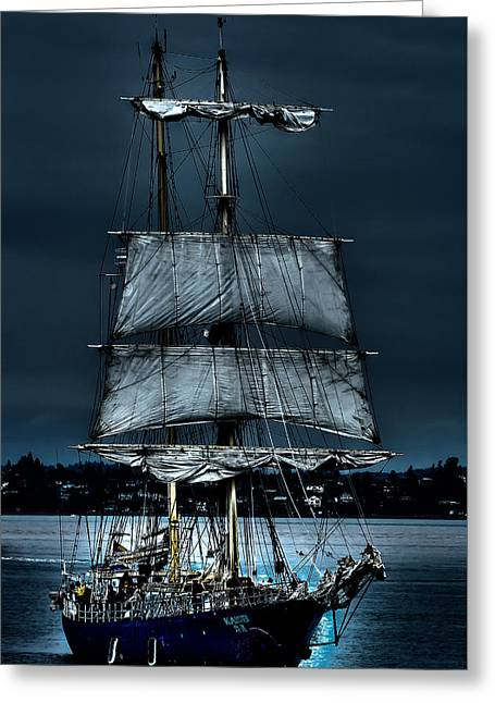 Pirates Greeting Cards - The Kaisei Brigantine Tall Ship Greeting Card by David Patterson