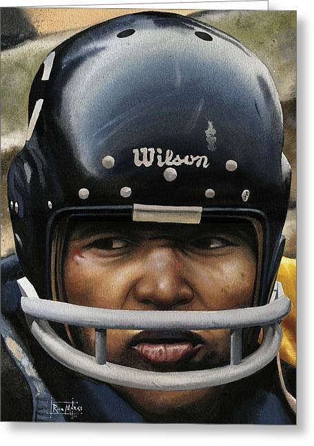Gale Sayers Greeting Cards - The Kansas Comet Greeting Card by Rich Marks