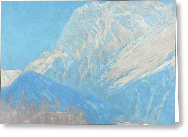 Charles River Paintings Greeting Cards - The Karwendel Spitz solid Greeting Card by Celestial Images