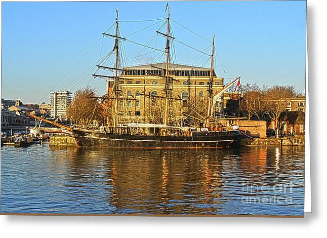 Tall Ships Greeting Cards - The Kaskelot in Bristol Dock Greeting Card by Terri  Waters