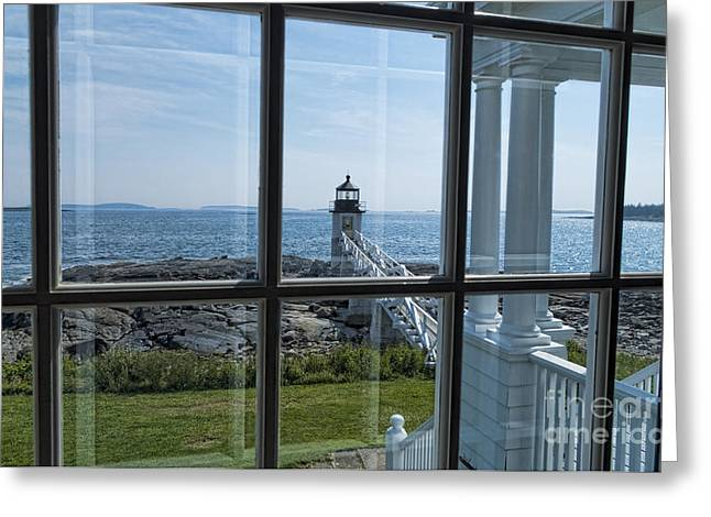 Maine Lighthouses Greeting Cards - The Keepers View Greeting Card by Patrick Fennell