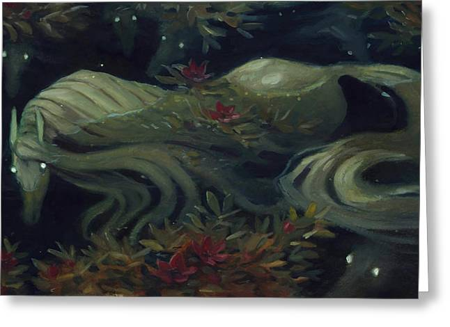 The Kelpie Pond Greeting Card by Jaimie Whitbread