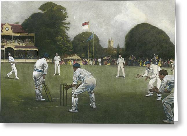 The Kent Eleven Champions, 1906 Greeting Card by Albert Chevallier Tayler
