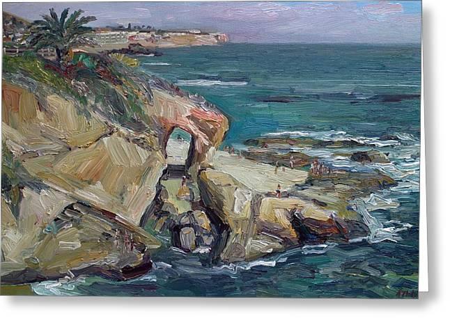 The Key Hole- Laguna Beach Greeting Card by John Kilduff
