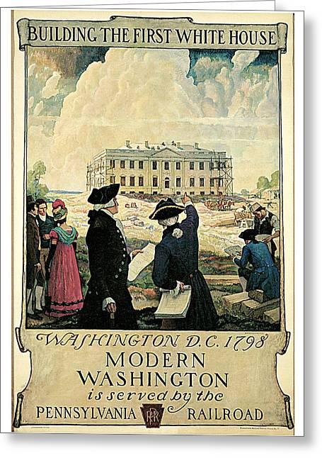 N.c. Greeting Cards - The Keystone Pennsylvania Railroad Greeting Card by N C Wyeth