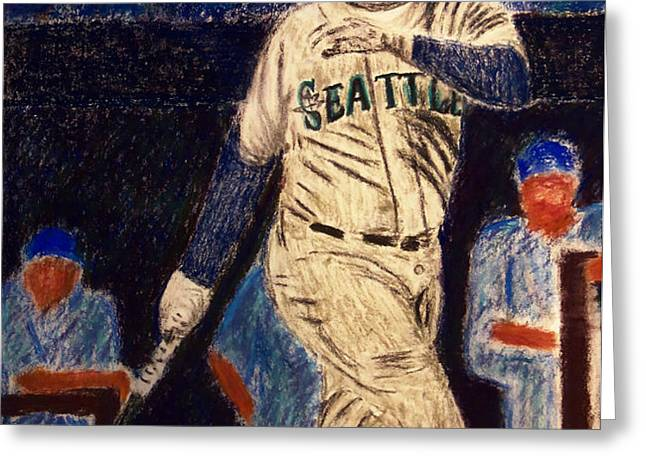 The Kid feat Ken Griffey Jr Greeting Card by D Rogale