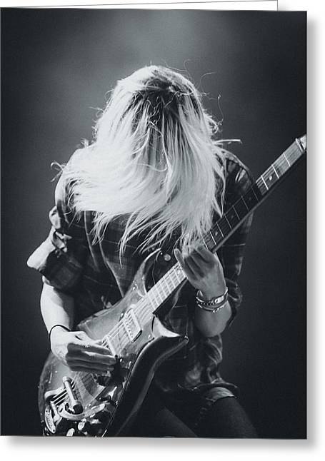 Live Art Greeting Cards - The Kills Playing Live Greeting Card by Marco Oliveira