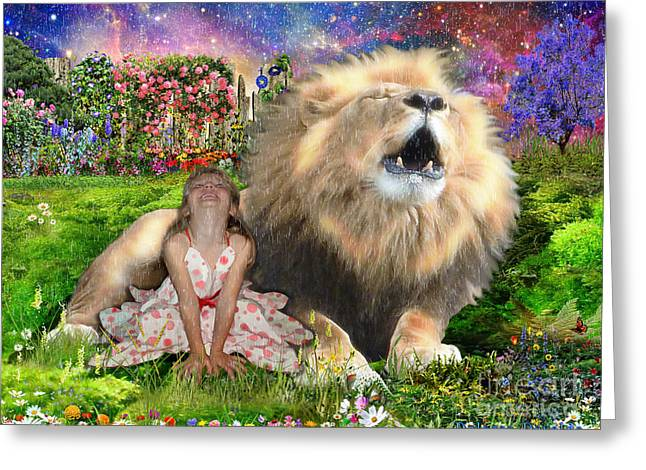 King Of Judah Greeting Cards - The King and I Greeting Card by Dolores Develde