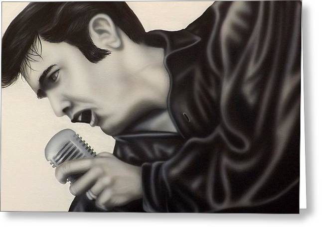 Elvis Icon Greeting Cards - The King  Greeting Card by Darren Robinson