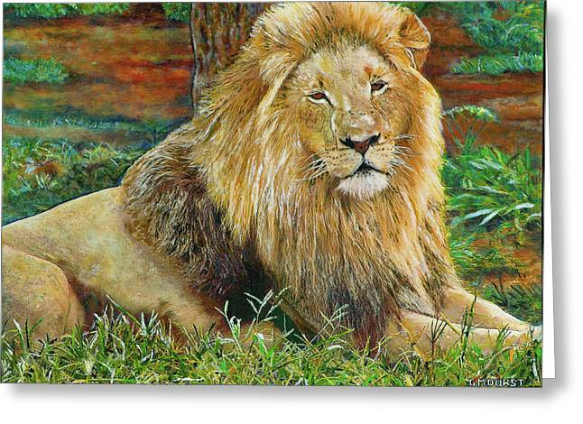 The King Greeting Card by Michael Durst